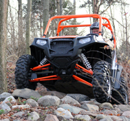 A UTV navigates CAPE's outdoor test track.