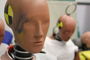 Test dummies are shows waiting to be used for crash testing purposes at CAPE.